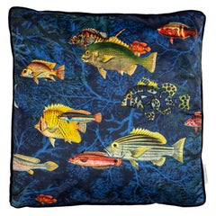 Amami, Contemporary Velvet Printed Pillow by Vito Nesta