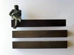 """ THE WORKER OF CONSTRUCTION"" original bronze iron sculpture"