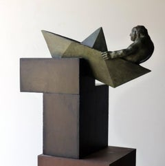 argonauta original bronze iron sculpture