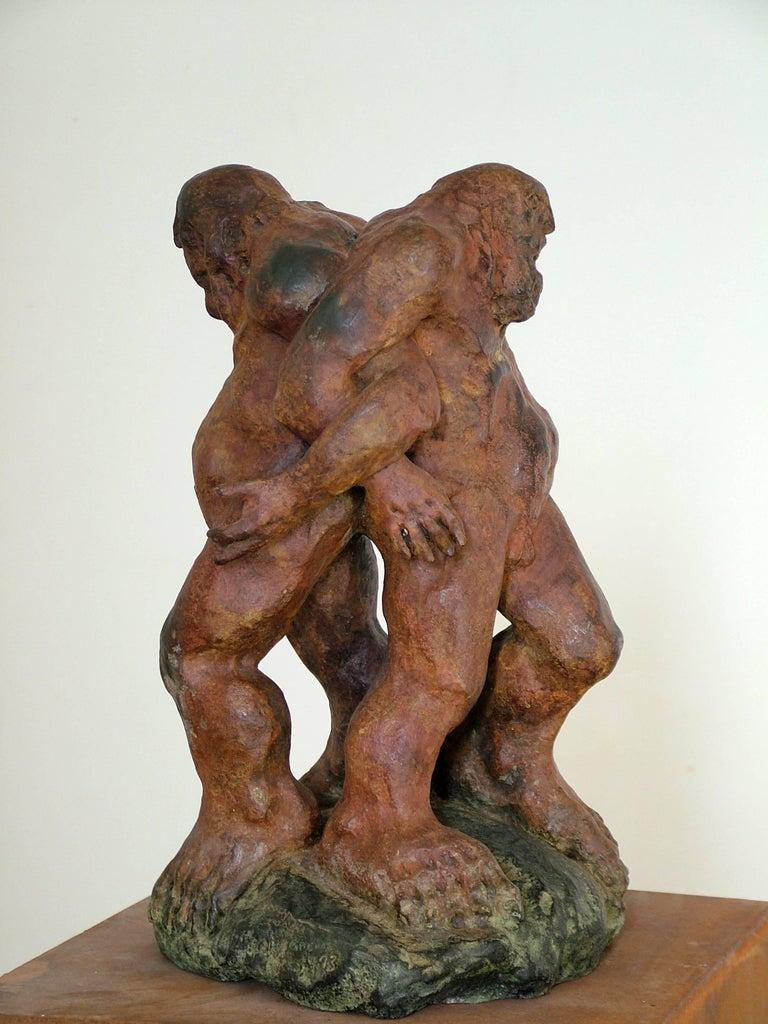 "Amancio González Andrés Figurative Sculpture -  ""CARNE ROTA"" Amancio- original sculpture bronze - 2008"