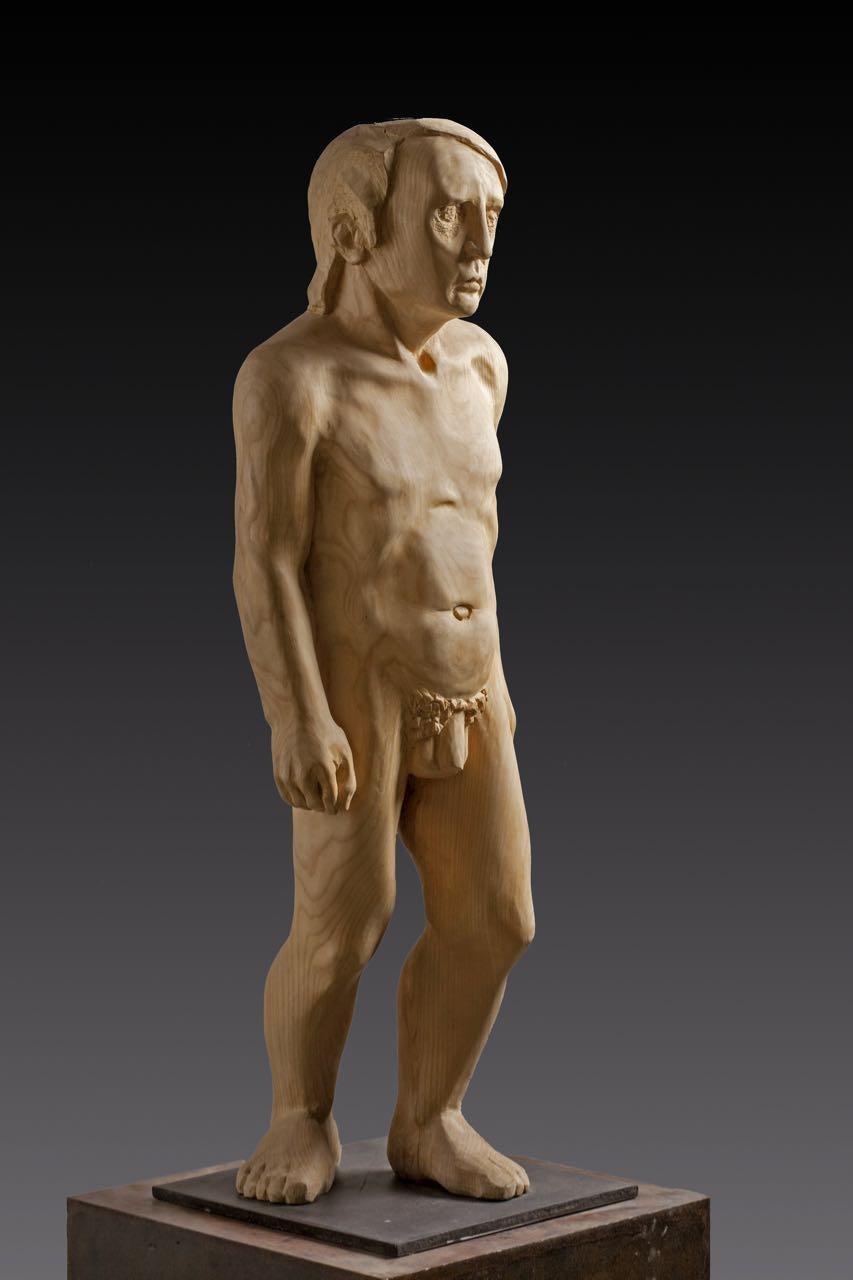 Ciudadano. wood original sculpture