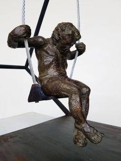 """""""EL COLUMPIO"""" original bronze iron sculpture"""