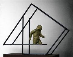 El Lugar que habito III- original sculpture bronze iron.