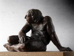 Guerrero Herido. original bronze sculpture