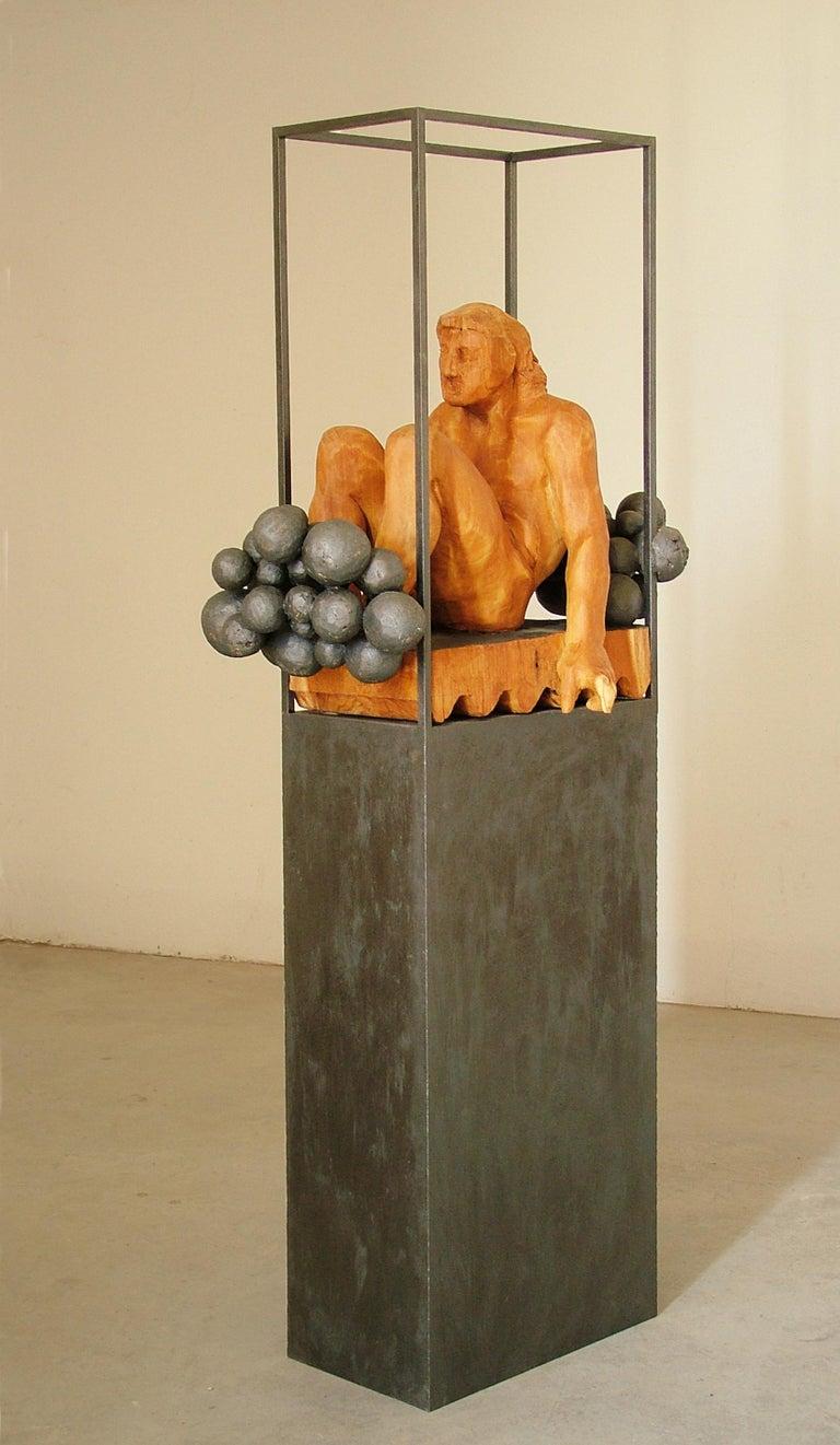 Niebla. iron and wood. original  sculpture For Sale 2