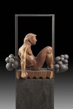 Niebla. iron and wood. original  sculpture