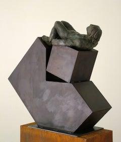 """"""" Deconstruccion I """" original bronze iron original sculpture"""