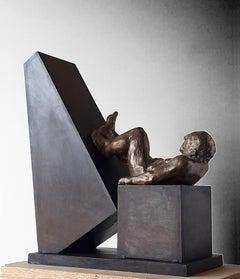 """"""" Deconstruccion V """" original bronze iron original sculpture"""