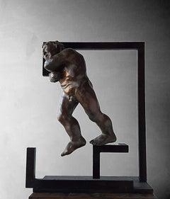 Caledoscopio. original sculpture iron bronce