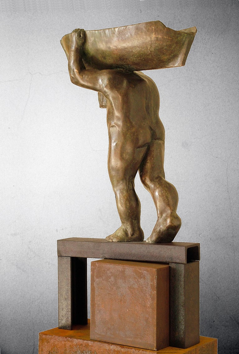 Sculpture by the Spanish artist AMANCIO GONZALEZ Artist well known for his large format works on the street. Iron and bronze. 7 copies AMANCIO Gonzalez ( Leon 1965 )  Amancio González is a sculptor from Leon and an internationally celebrated