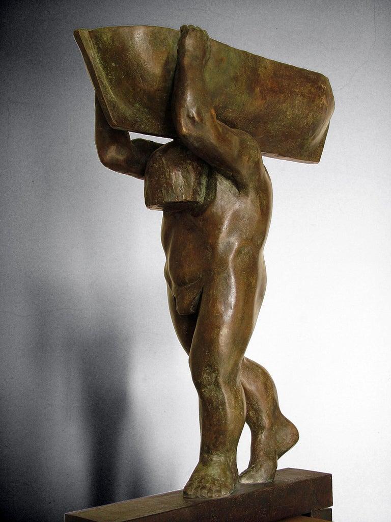 Amancio Gonzalez Morera Abstract Sculpture - el hombre y el mar. original sculpture iron bronze