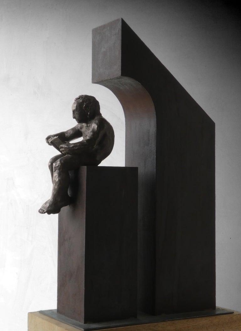 la casa II. original sculpture iron bronze For Sale 5