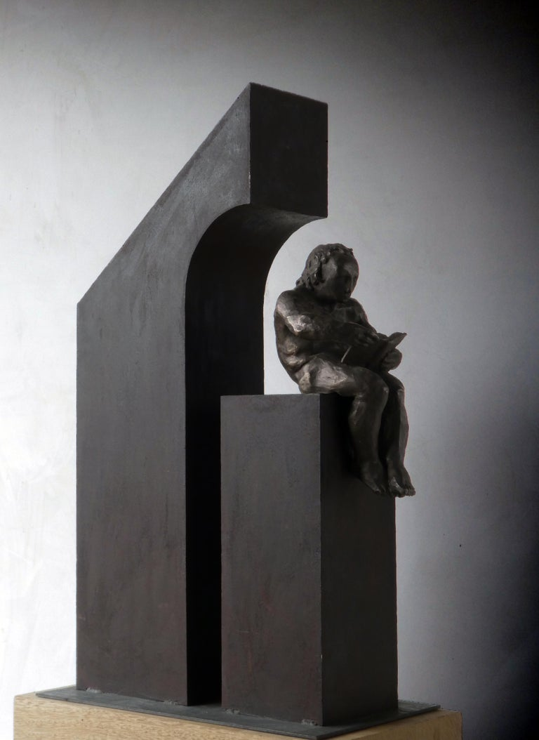 la casa II. original sculpture iron bronze For Sale 6