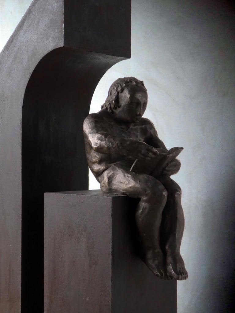 la casa II. original sculpture iron bronze For Sale 7
