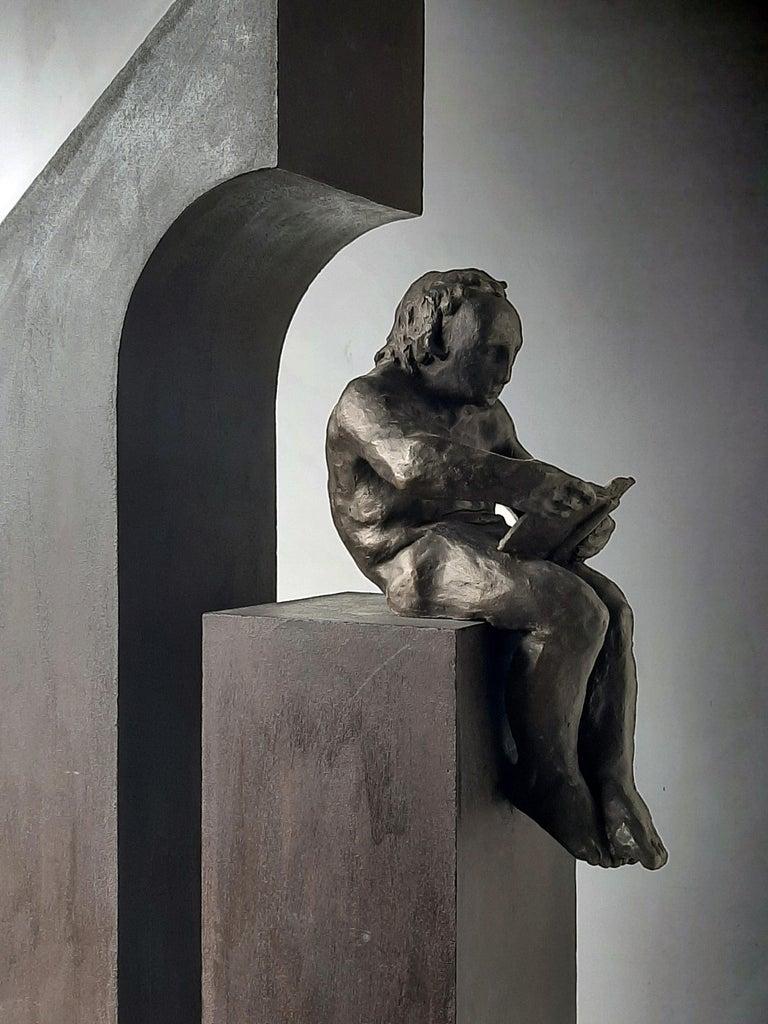 la casa II. original sculpture iron bronze - Abstract Expressionist Sculpture by Amancio Gonzalez Morera