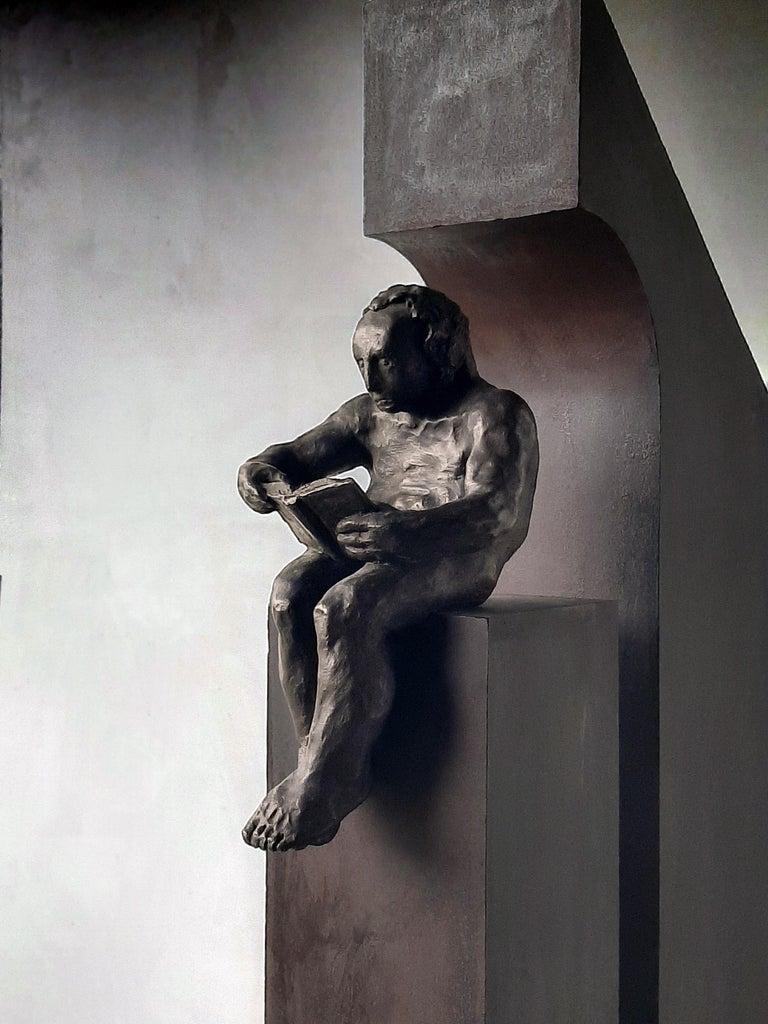 la casa II. original sculpture iron bronze For Sale 1