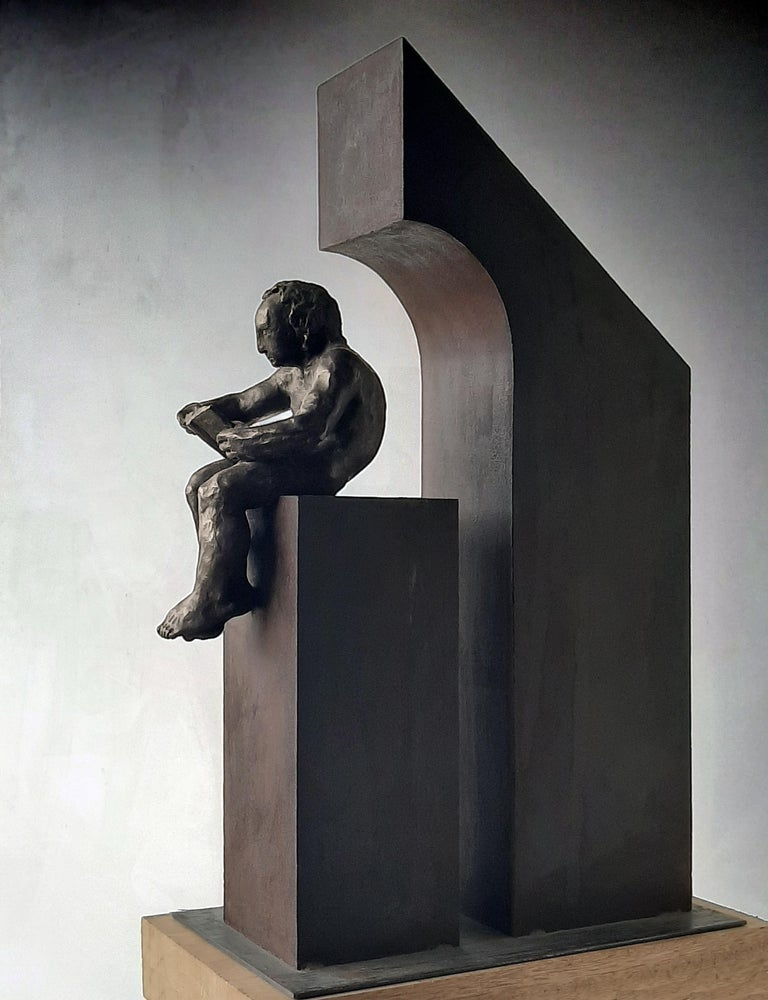 la casa II. original sculpture iron bronze For Sale 2