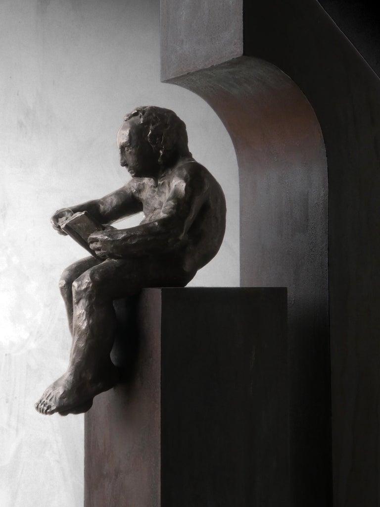 la casa II. original sculpture iron bronze For Sale 4