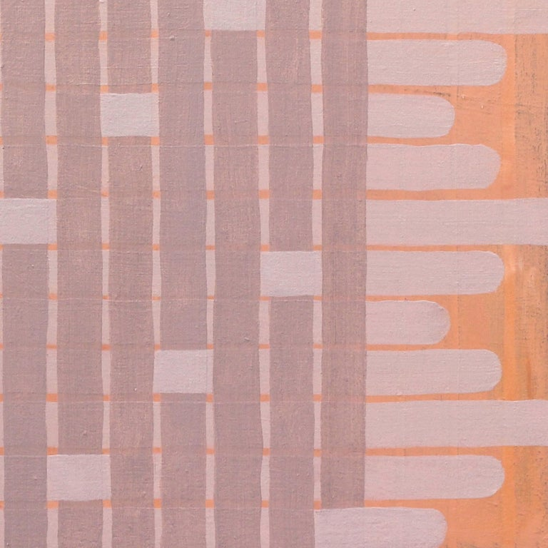 'Delicate' - Abstract Painting - Earth Pigments - Anni Albers - Agnes Martin 1