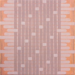 'Delicate' - Abstract Painting - Earth Pigments - Anni Albers - Agnes Martin