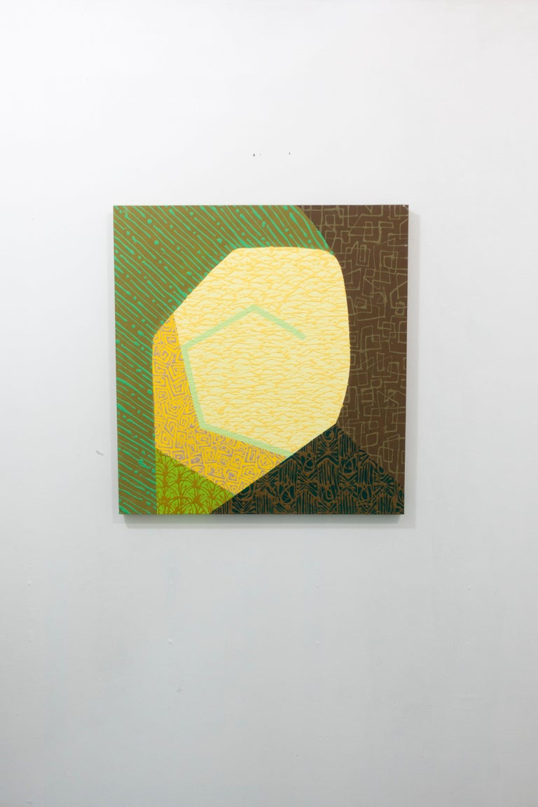 Yellow Oculus - Painting by Amanda Brown
