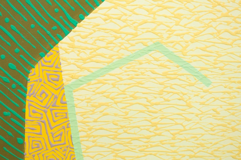 Yellow Oculus - Green Figurative Painting by Amanda Brown