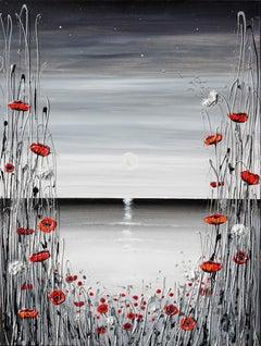 Moonlight Evening, Painting, Acrylic on Canvas