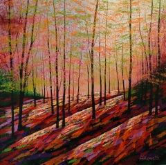 Amanda Horvath, Alchemy Wood, Original Woodland Painting, Affordable Art