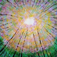 Amanda Horvath, Finding the Light, Contemporary Woodland Art, Original Painting