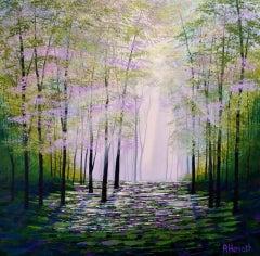 Amanda Horvath, Forest Wisdom, Woodland Landscape Art, Affordable Art
