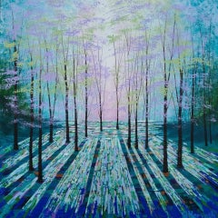 Amanda Horvath, Light in the Shadows, Contemporary Woodland Painting