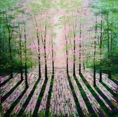 Amanda Horvath, Summer Lights, Contemporary Art, Woodland Landscape Art