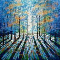 Amanda Horvath, Woodland Daydream, Affordable Art, Original Woodland Painting