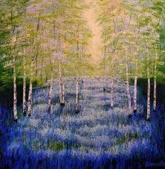 Amanda Horvath, Woodland Oasis, Original Woodland Painting, Affordable Art