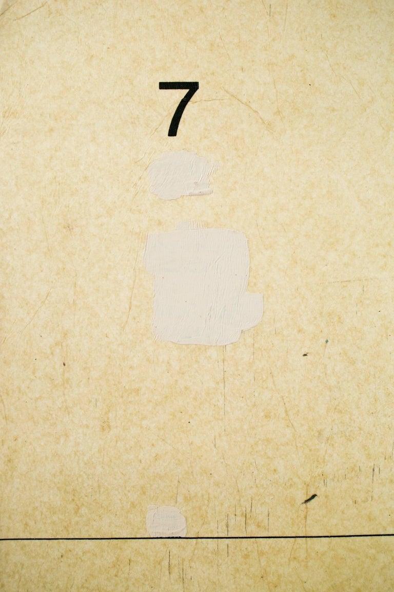 This original mixed media painting on paper by Amanda Marie (aka Mando // Seeyouthroughit) measures 19.75