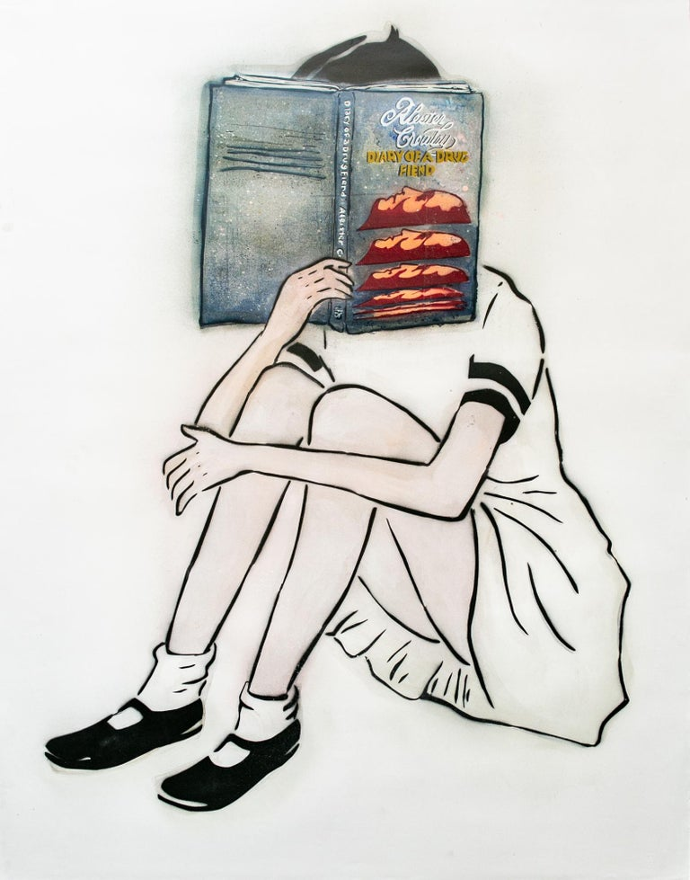 Amanda Marie Figurative Painting - Diary Of A Drug Fiend - Crowley