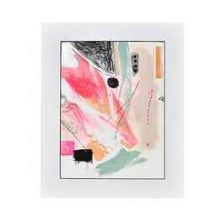 "Amanda Pendarvis Abstract Mixed Media Painting, ""Enthusiasm I"", 2020"