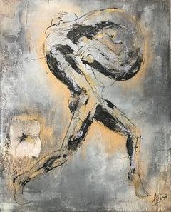 Fusion - Human Body Representation in Yellow & Silver