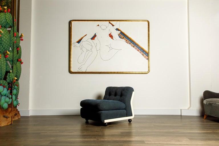 'Amanta' Fiberglass Lounge Chair by Mario Bellini for C&B Italia, c. 1966 Signed For Sale 4