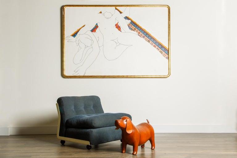 'Amanta' Fiberglass Lounge Chair by Mario Bellini for C&B Italia, c. 1966 Signed For Sale 11