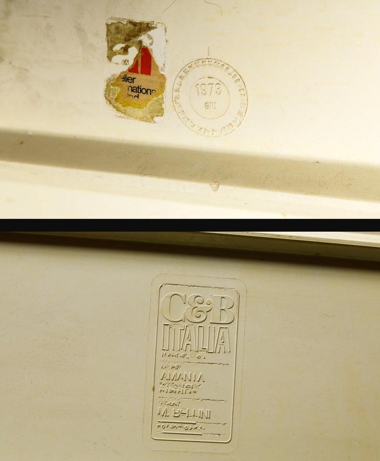 'Amanta' Fiberglass Lounge Chair by Mario Bellini for C&B Italia, c. 1966 Signed For Sale 14