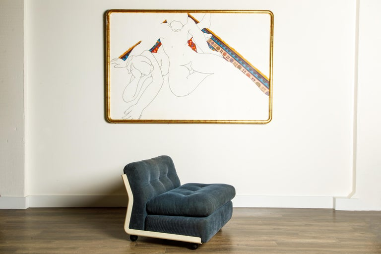 'Amanta' Fiberglass Lounge Chair by Mario Bellini for C&B Italia, c. 1966 Signed In Good Condition For Sale In Los Angeles, CA