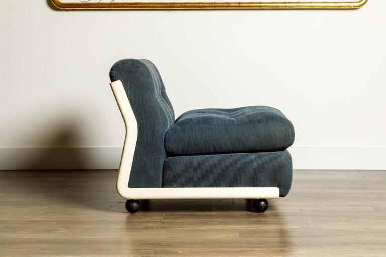 Mid-20th Century 'Amanta' Fiberglass Lounge Chair by Mario Bellini for C&B Italia, c. 1966 Signed For Sale