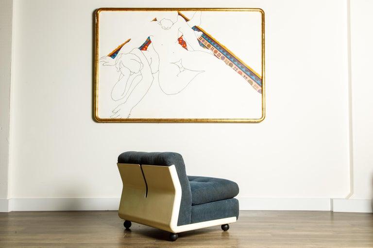 'Amanta' Fiberglass Lounge Chair by Mario Bellini for C&B Italia, c. 1966 Signed For Sale 1