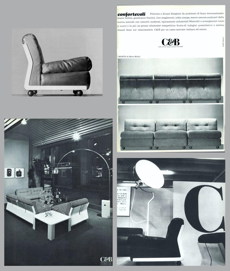 'Amanta' Sectional Lounges by Mario Bellini for C&B Italia, circa 1966, Signed For Sale 13