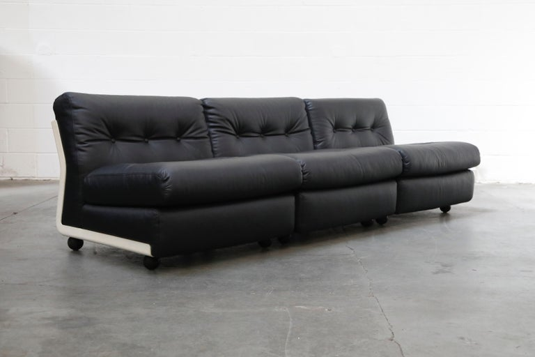 Mid-Century Modern 'Amanta' Sectional Lounges by Mario Bellini for C&B Italia, circa 1966, Signed For Sale