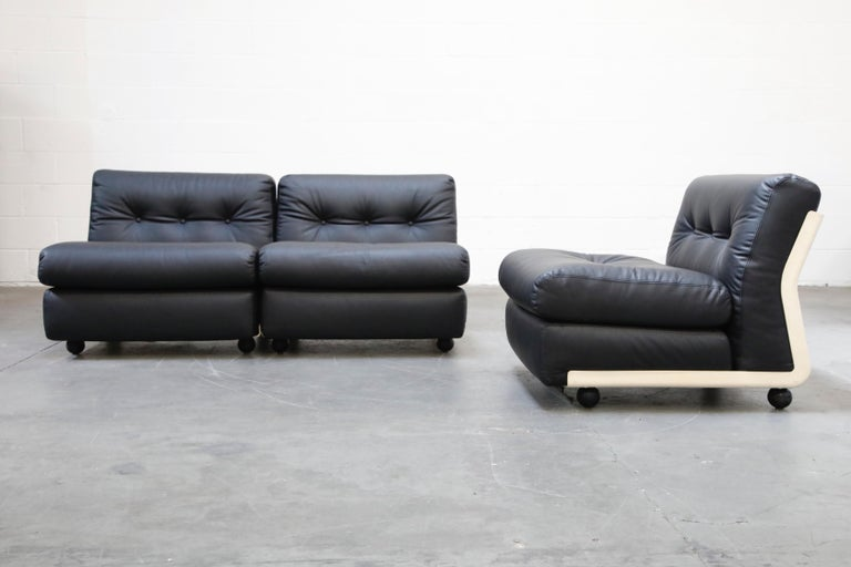 Mid-20th Century 'Amanta' Sectional Lounges by Mario Bellini for C&B Italia, circa 1966, Signed For Sale
