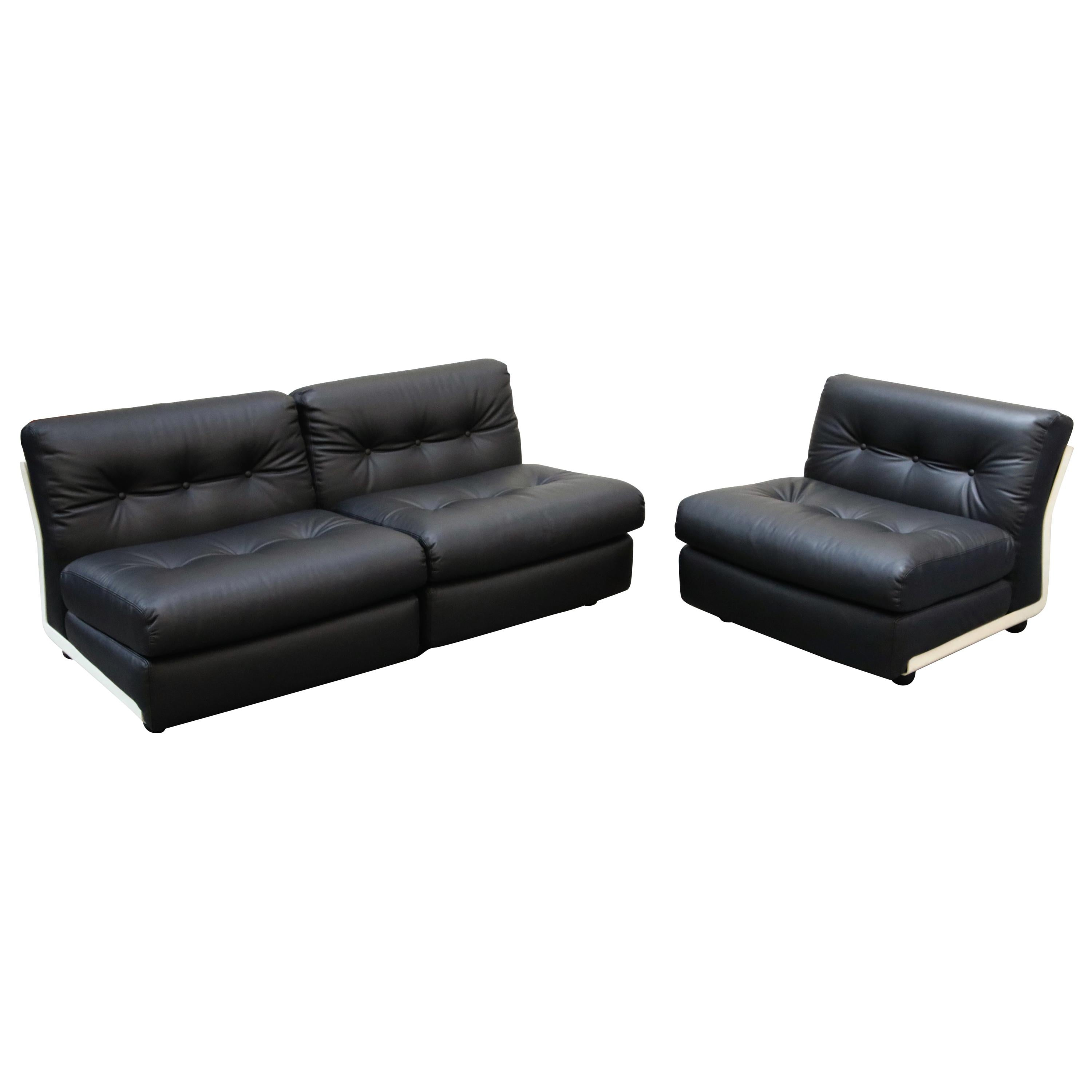 'Amanta' Sectional Lounges by Mario Bellini for C&B Italia, circa 1966, Signed