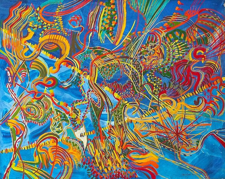Amaranth Ehrenhalt Abstract Painting - Sriffle