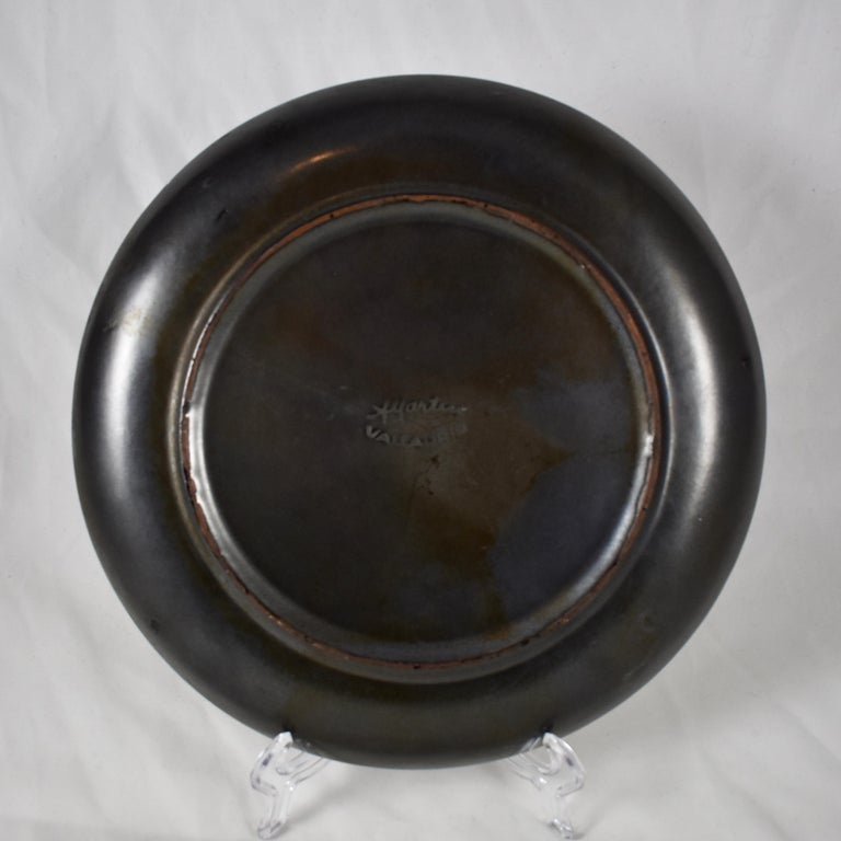 20th Century A.Martin Vallauris French Provençal Palissy Trompe L'oeil Vegetable Wall Plate For Sale